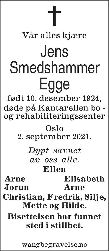 Jens Egge Dødsannonse
