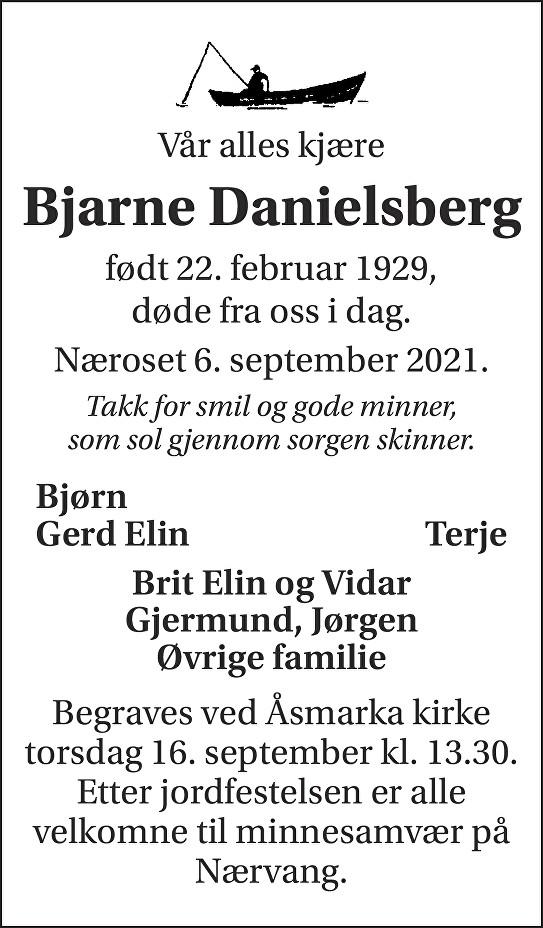 Bjarne Danielsberg Dødsannonse