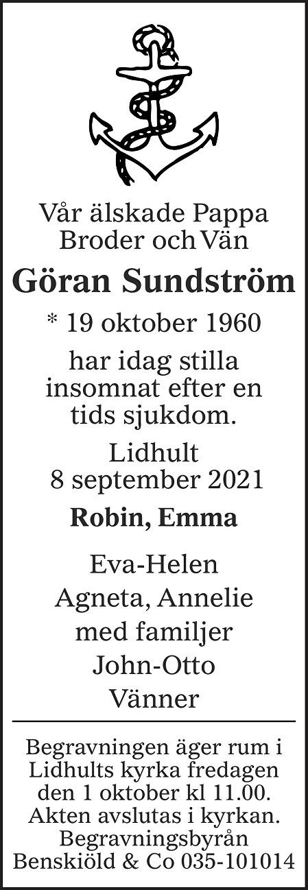 Göran  Sundström Death notice
