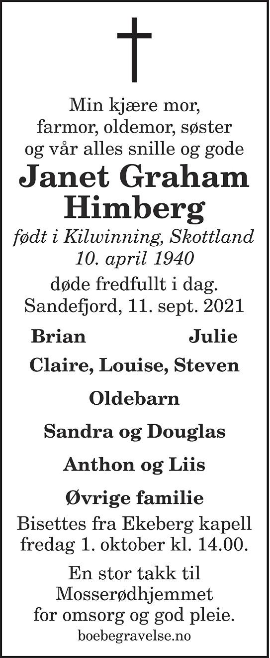Janet Graham Himberg Dødsannonse