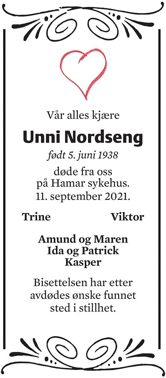 Gerd Unni Nordseng Dødsannonse