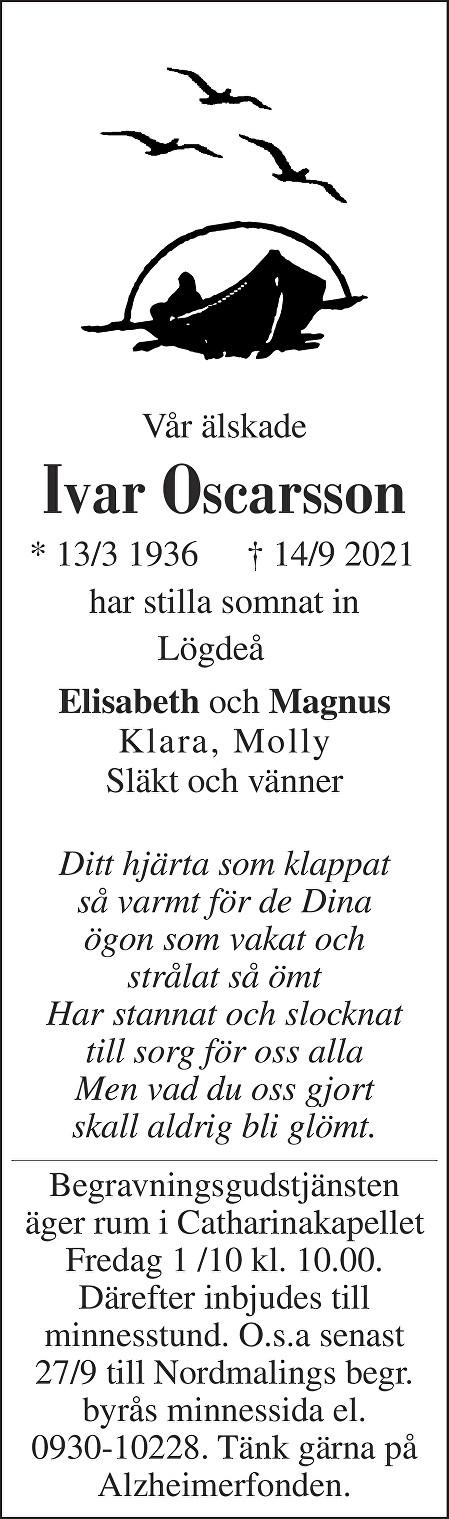 Ivar Oscarsson Death notice