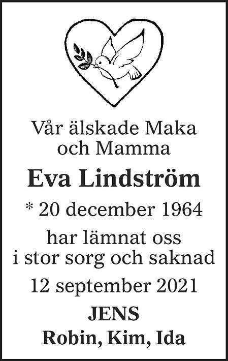 Eva Lindström Death notice
