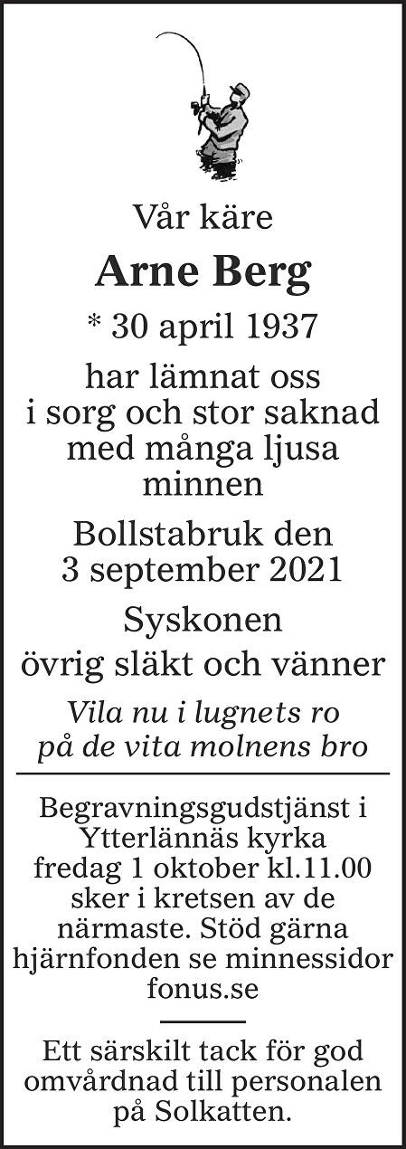 Arne Berg Death notice