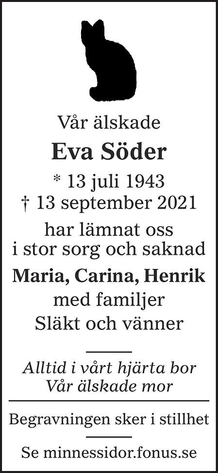 Eva Söder Death notice