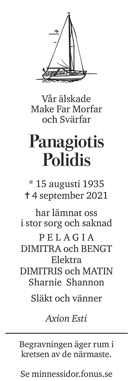 Panagiotis Polidis Death notice