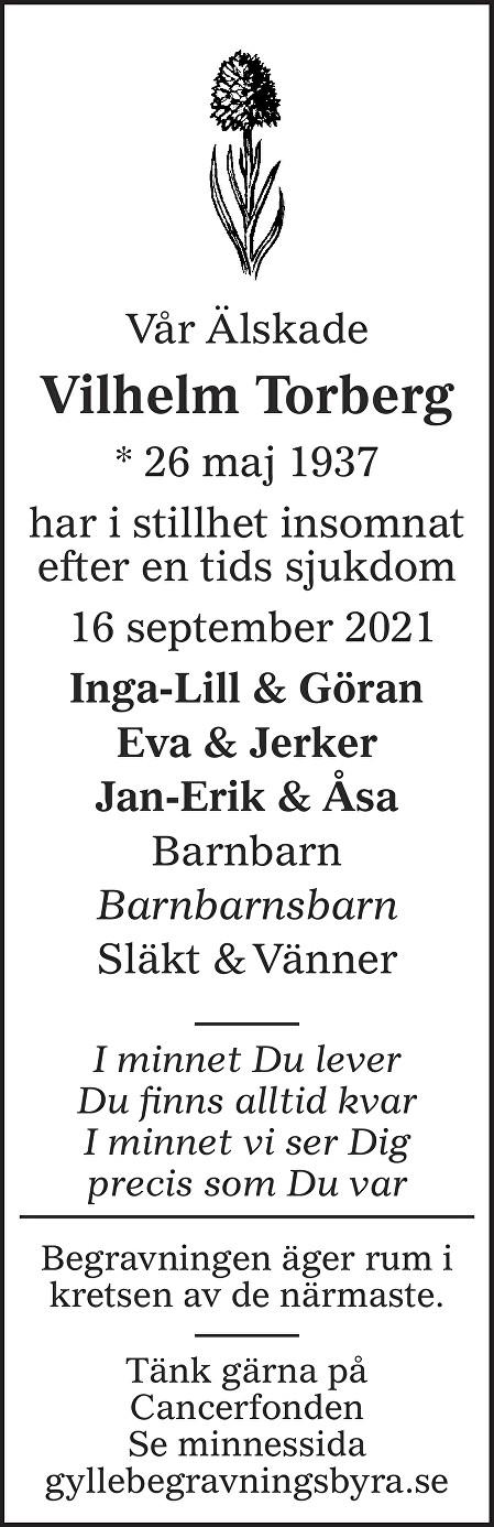 Vilhelm Torberg Death notice