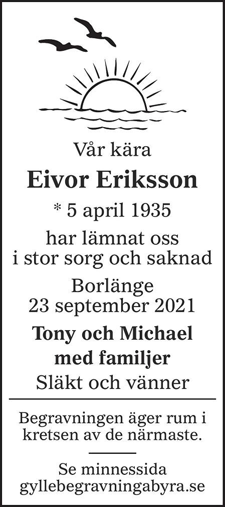 Eivor Eriksson Death notice