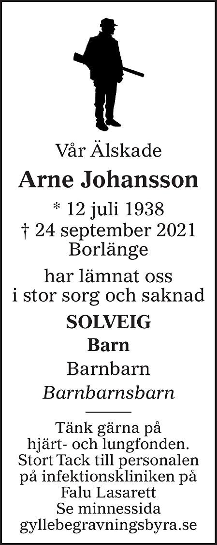 Arne Johansson Death notice