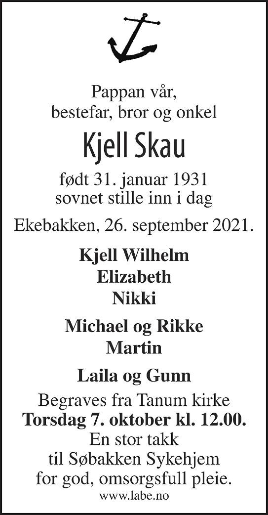 Kjell Skau Dødsannonse