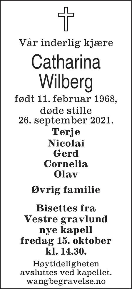Catharina Wilberg Dødsannonse