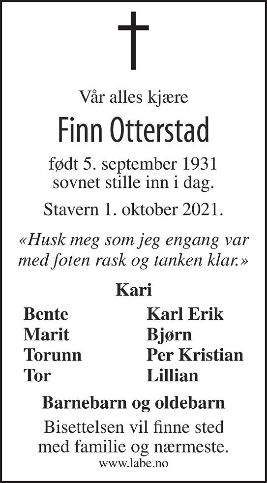 Finn Otterstad Dødsannonse