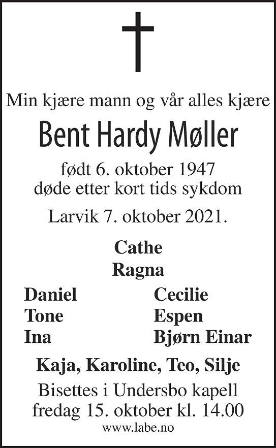 Bent Hardy Møller Dødsannonse