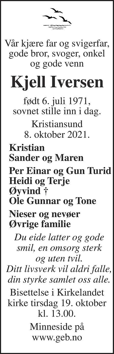 Kjell Iversen Dødsannonse