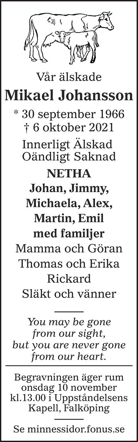 Mikael Johansson Death notice