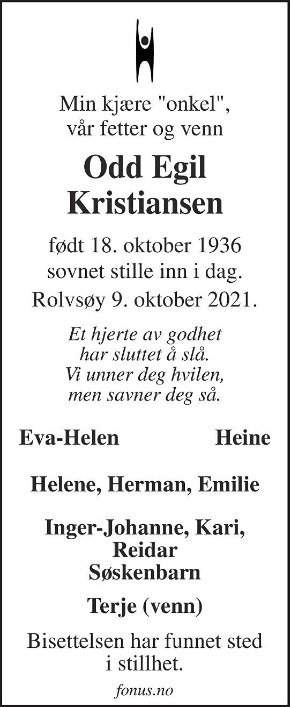 Odd Egil Kristiansen Dødsannonse