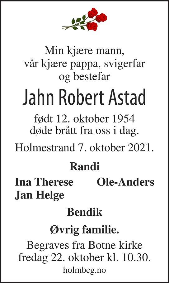Jahn Robert Astad Dødsannonse